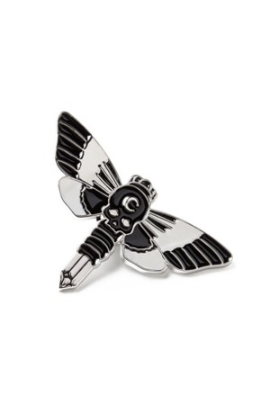 pin badge KILLSTAR MOTH CRYSTAL ENAMEL PIN