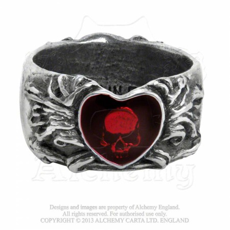 ring ALCHEMY GOTHIC BROKEN HEART