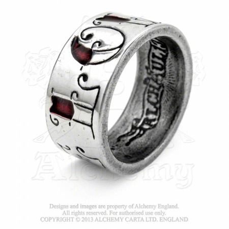 ring ALCHEMY GOTHIC LOVE/HATE