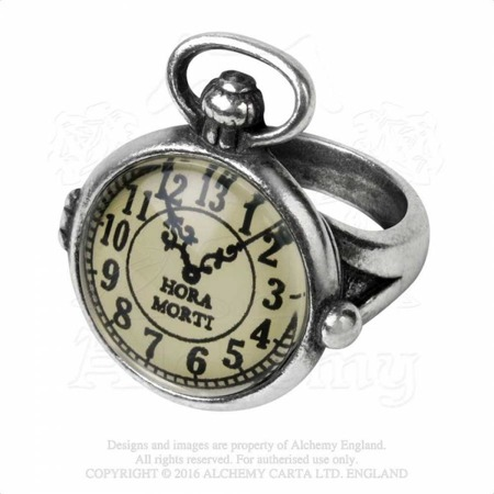 ring ALCHEMY GOTHIC UNCLE ALBERT'S TIME PIECE