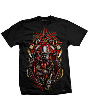 short sleeve T-Shirt DARKSIDE EDWARD PSYCHO BLACK