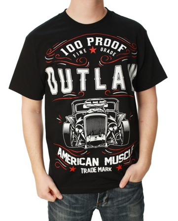 short sleeve T-Shirt OUTLAW THREADZ AMERICAN MUSCLE