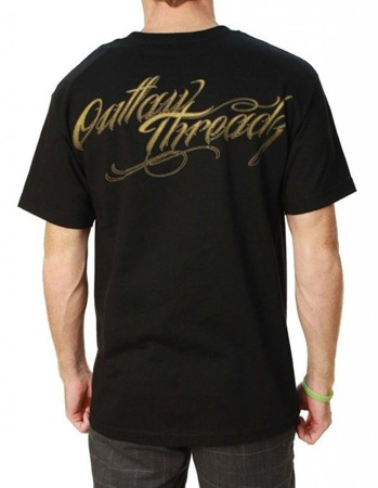 short sleeve T-Shirt OUTLAW THREADZ AT PEACE BLACK