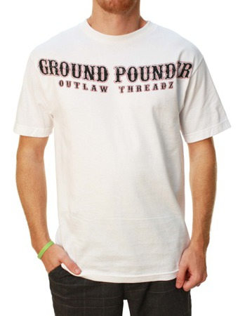 short sleeve T-Shirt OUTLAW THREADZ GROUND POUNDER WHITE