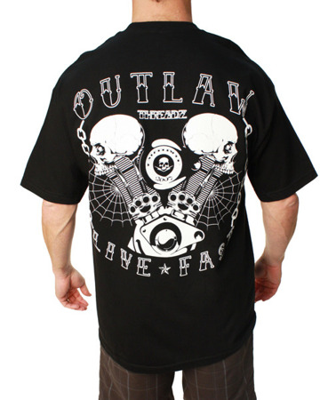 short sleeve T-Shirt OUTLAW THREADZ LIVE FAST
