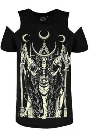 short sleeve T-Shirt RESTYLE HECATE COLD SHOULDER