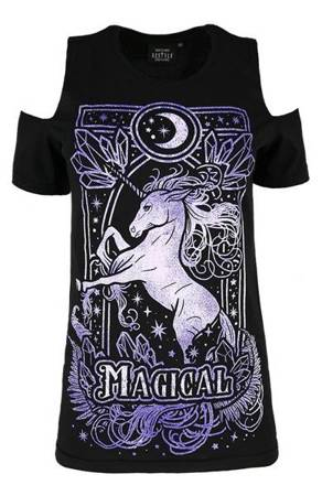 short sleeve T-Shirt RESTYLE MAGICAL UNICORN PURPLE