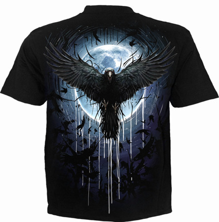 short sleeve T-Shirt SPIRAL CROW MOON