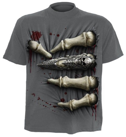 short sleeve T-Shirt SPIRAL DEATH GRIP GREY
