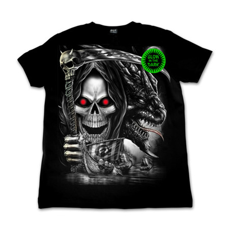 short sleeve T-Shirt WILD DEATH RED EYES AND DRAGON