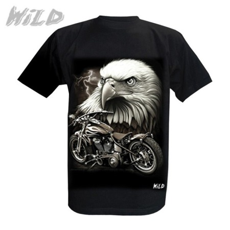 short sleeve T-Shirt WILD EAGLE AND MOTORCYCLE