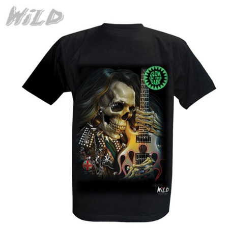 short sleeve T-Shirt WILD SKELETON AND A GUITAR