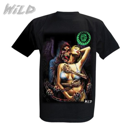 short sleeve T-Shirt WILD SKELETON AND A WOMAN