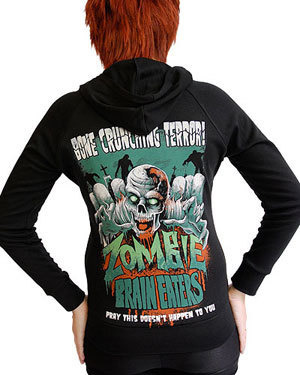sweatshirt DARKSIDE ZOMBIE BRAIN EATERS BLACK