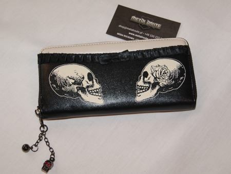 wallet BANNED SKULL WITH A ROSE
