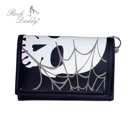 wallet ROCK DADDY WHITE SKULL AND GREY COBWEB