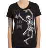 Short sleeve T-Shirt BLACK HEART SKELETON