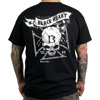 Short sleeve T-Shirt BLACK HEART SKULL CROSS