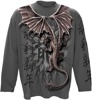 long sleeve T-Shirt SPIRAL ORIENTAL DRAGON WRAP