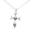 necklace POIZEN INDUSTRIES CROSS BONE SILVER