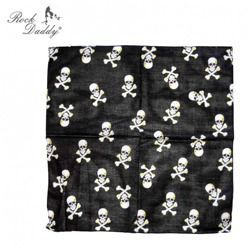 bandana ROCK DADDY BLACK WITH PIRATE SKULLS