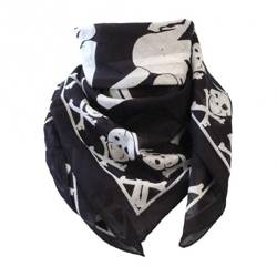 chusta ROCK DADDY BLACK WITH SKULL DESIGN