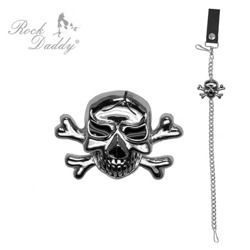 łańcuch do spodni ROCK DADDY SILVER WITH SKULL
