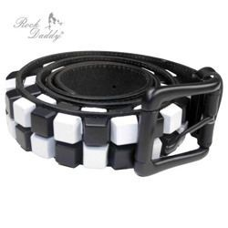 pasek ROCK DADDY DICE IN  BLACK/WHITE