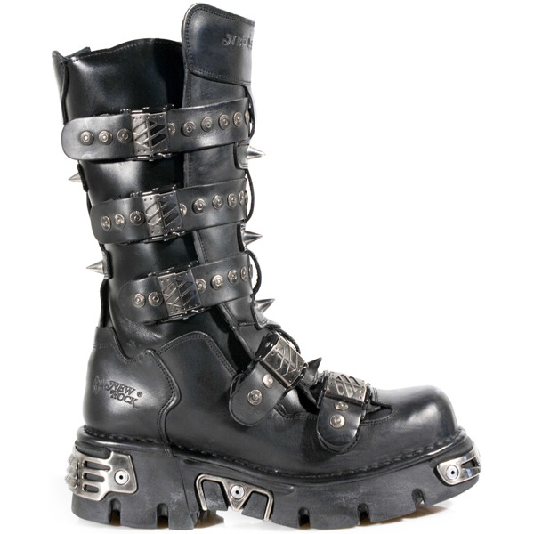 b3e3ff2e buty rockowe NEW ROCK METALLIC M.134-S1 | sklep rockowy metalRoute.pl