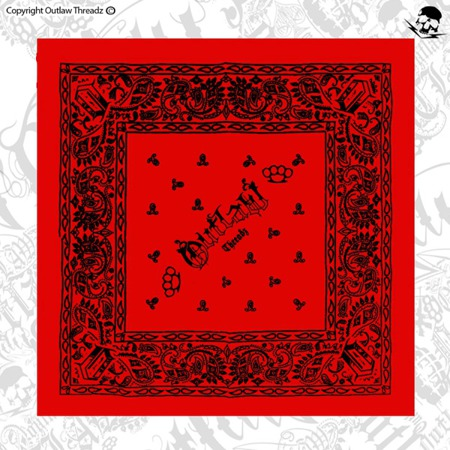 bandana OUTLAW THREADZ BANDANA RED