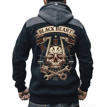 bluza BLACK HEART CHOPPER SKULL