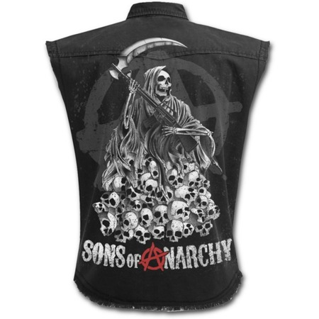 kamizelka  SONS OF ANARCHY SOA REAPER SKULLS