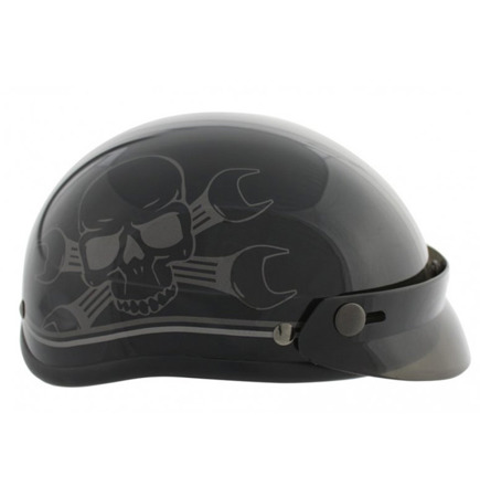 kask RUSTY PISTONS SKULL SHINE MATT BLACK