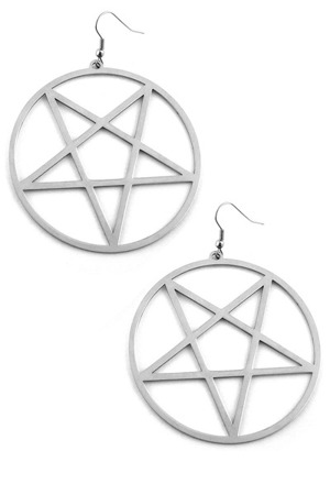 kolczyki KILLSTAR PENTAGRAM EARRINGS
