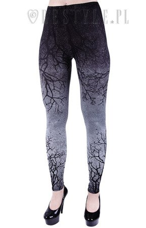 legginsy RESTYLE GRAY BRANCHES