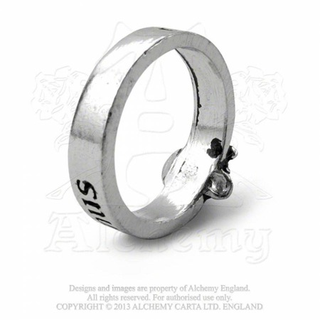 obrączka ALCHEMY GOTHIC GREAT WISH RING