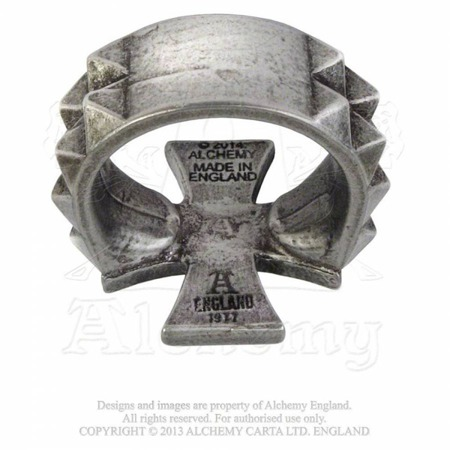 pierścień ALCHEMY GOTHIC CROSS OF IRON