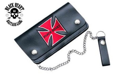 portfel BLACK HEART RED BARON
