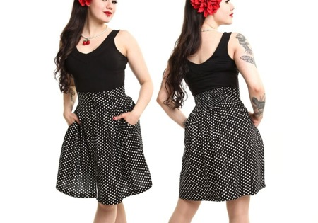 spódnica POIZEN INDUSTRIES BUFFY SKIRT POLKA