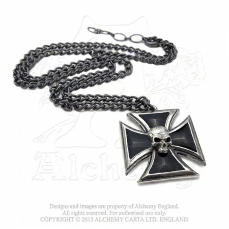 wisior ALCHEMY GOTHIC BLACK KNIGHT'S CROSS
