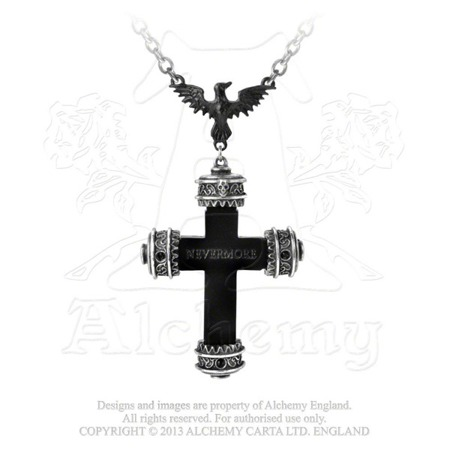 wisior ALCHEMY GOTHIC NEVERMORE CROSS