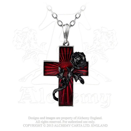 wisior ALCHEMY GOTHIC ORDER OF THE BLACK ROSE